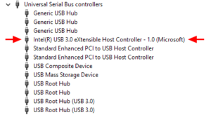Intel extensible USB controller